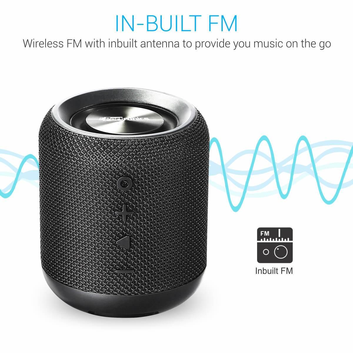 Portronics - SoundDrum Portable Bluetooth Speaker with FM & USB